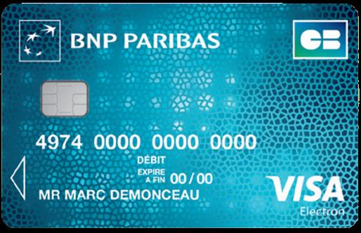 Visa Electron De Bnp Paribas Avec Plafond De Paiement De 1000