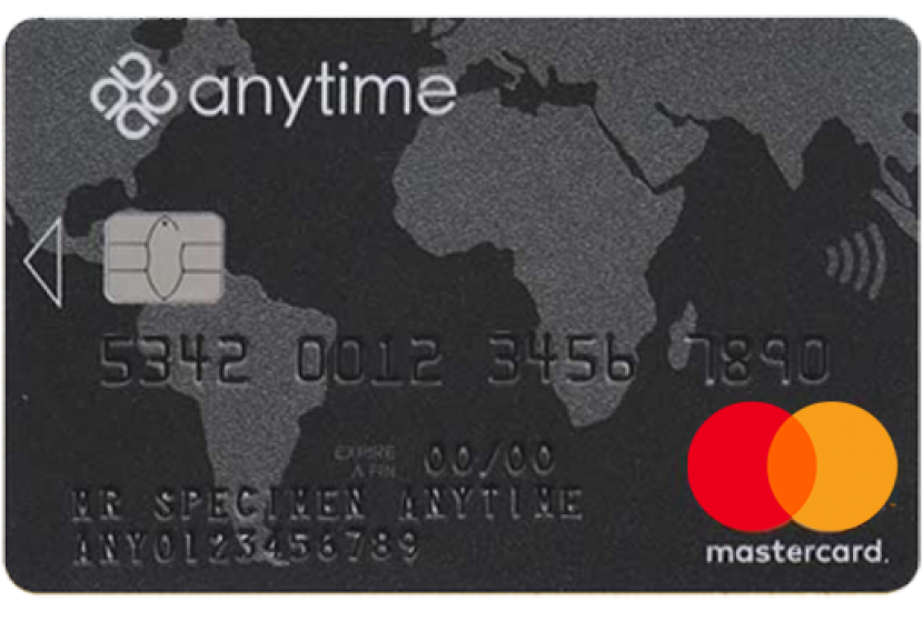 Anytime mastercard