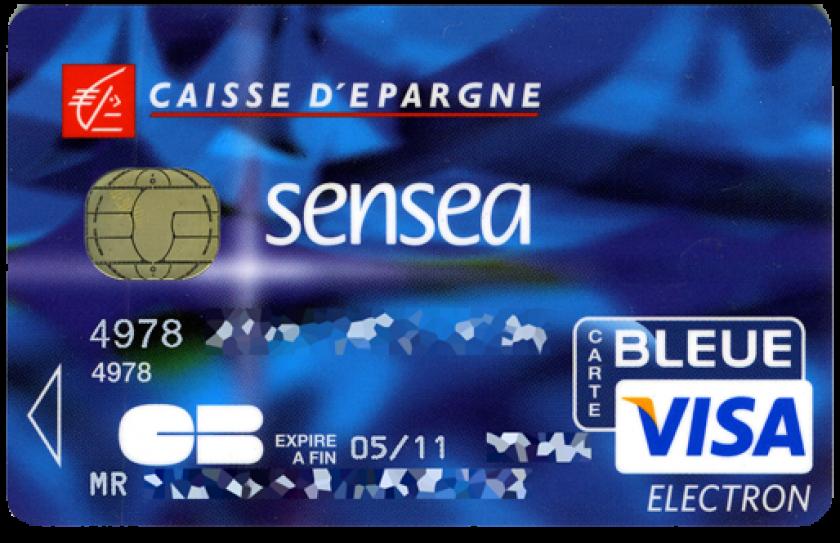 carte de retrait caisse d épargne gratuite Visa Electron Sensea de la Caisse d'Épargne à débit immédiat