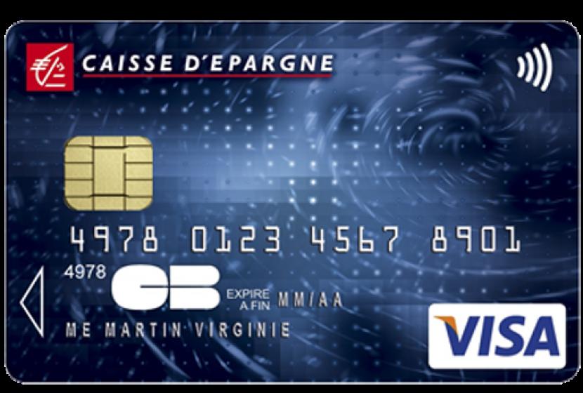 carte de retrait caisse d épargne gratuite Visa Classic de la Caisse d'épargne au prix de 20,75 €/an si  25 ans
