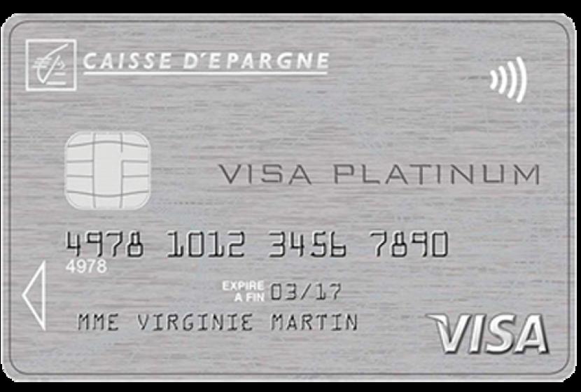 plafond carte visa caisse epargne Visa Platinum de la Caisse d'Épargne : carte haut de gamme