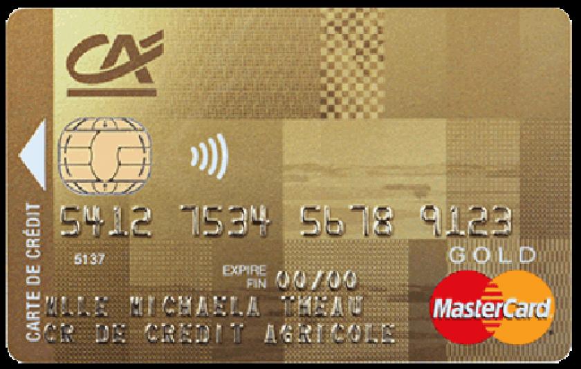Mastercard Gold du Crédit Agricole
