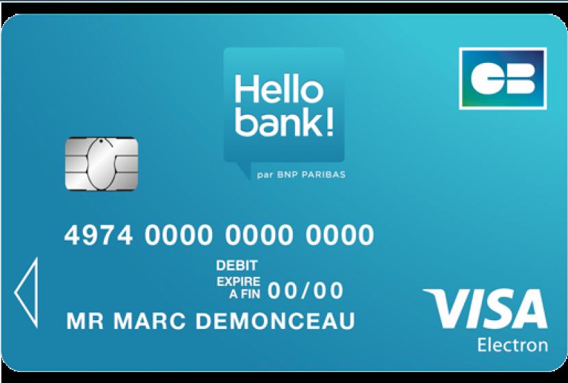 Carte VISA Electron Hellobank