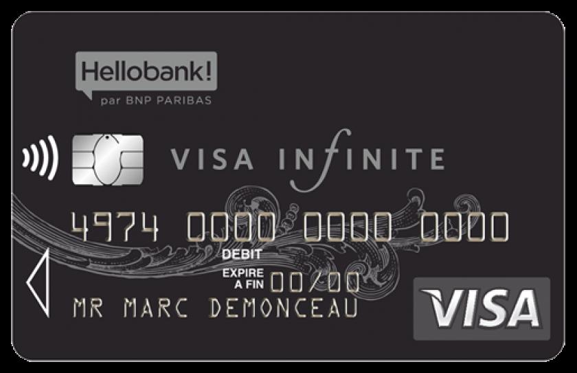 Visa Infinite de HelloBank avec garantie d'assurance et d'assistance