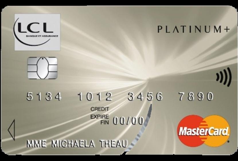 plafond retrait carte visa lcl Mastercard Platinum + LCL avec assurances haut de gamme